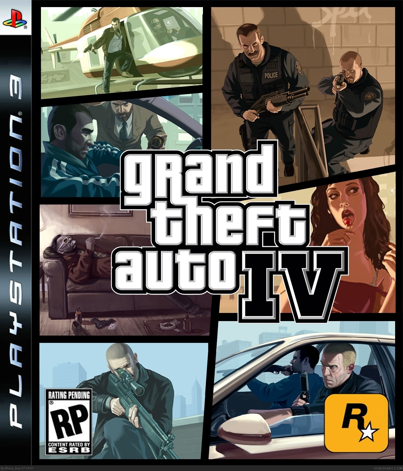 grand theft auto iv playstation 3 box art cover by blairy boy. Black Bedroom Furniture Sets. Home Design Ideas