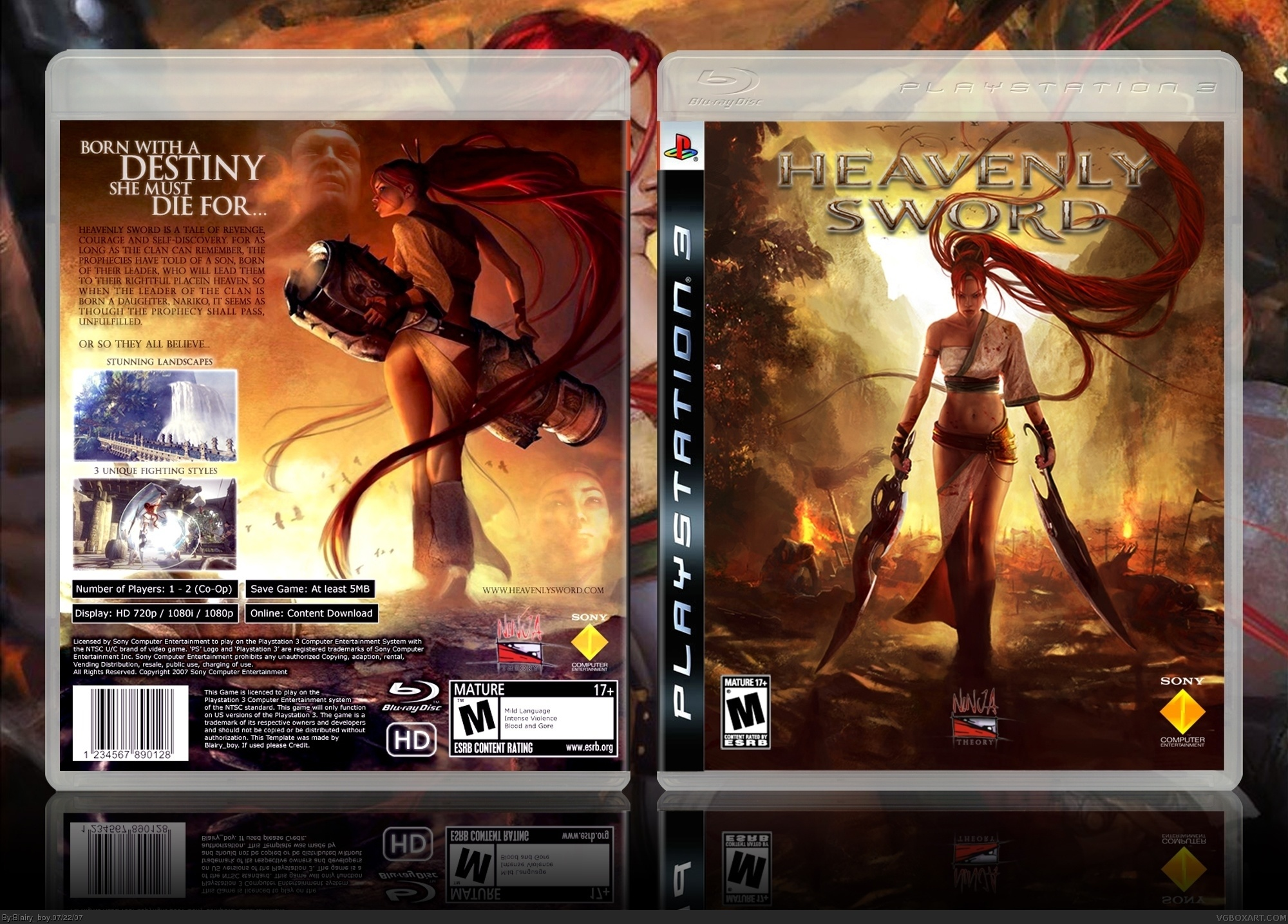 Heavenly Sword Playstation 3 Box Art Cover By Blairy Boy