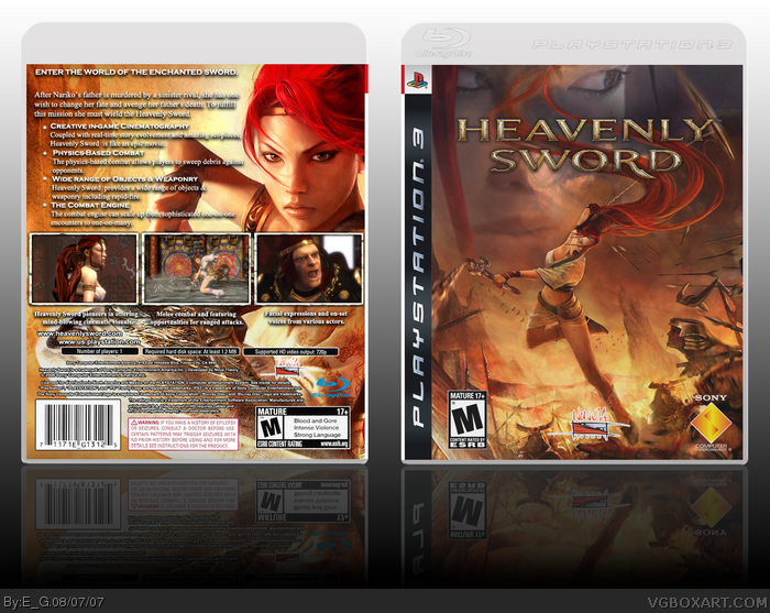 Heavenly Sword Playstation 3 Box Art Cover By E G