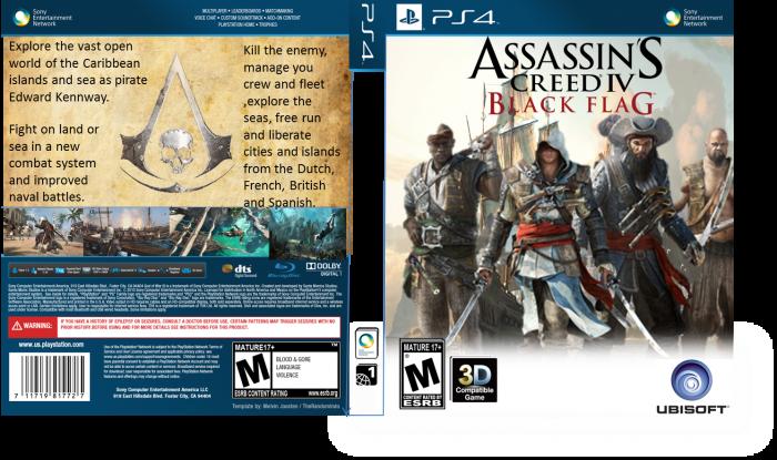 Assassin S Creed Iv Black Flag Playstation 4 Box Art Cover By 1703joe