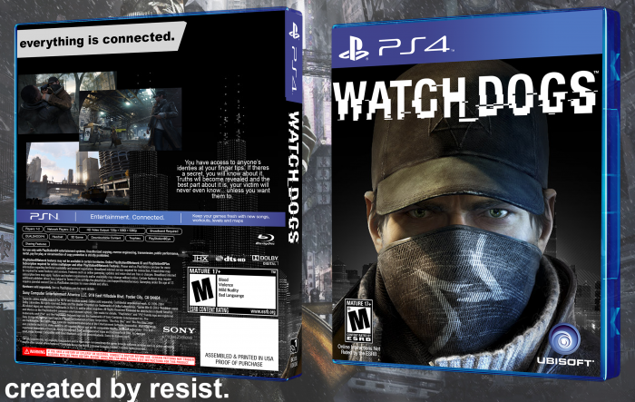 Watch Dogs PlayStation 4 Box Art Cover by Resist