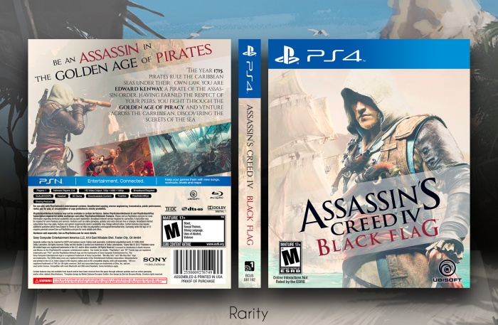 Assassin S Creed Iv Black Flag Playstation 4 Box Art Cover By Rarity