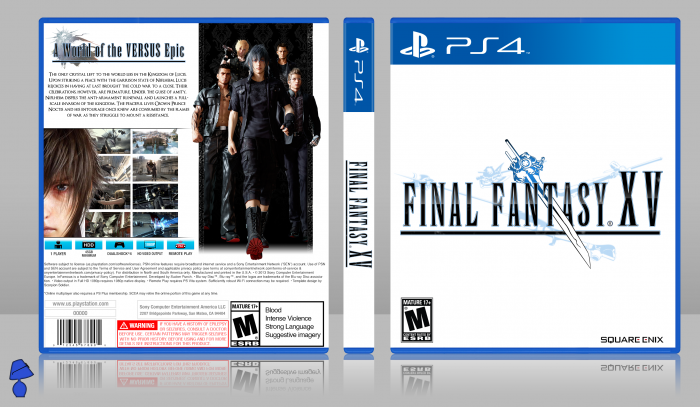 Final Fantasy Xv Playstation 4 Box Art Cover By Agentlampshade