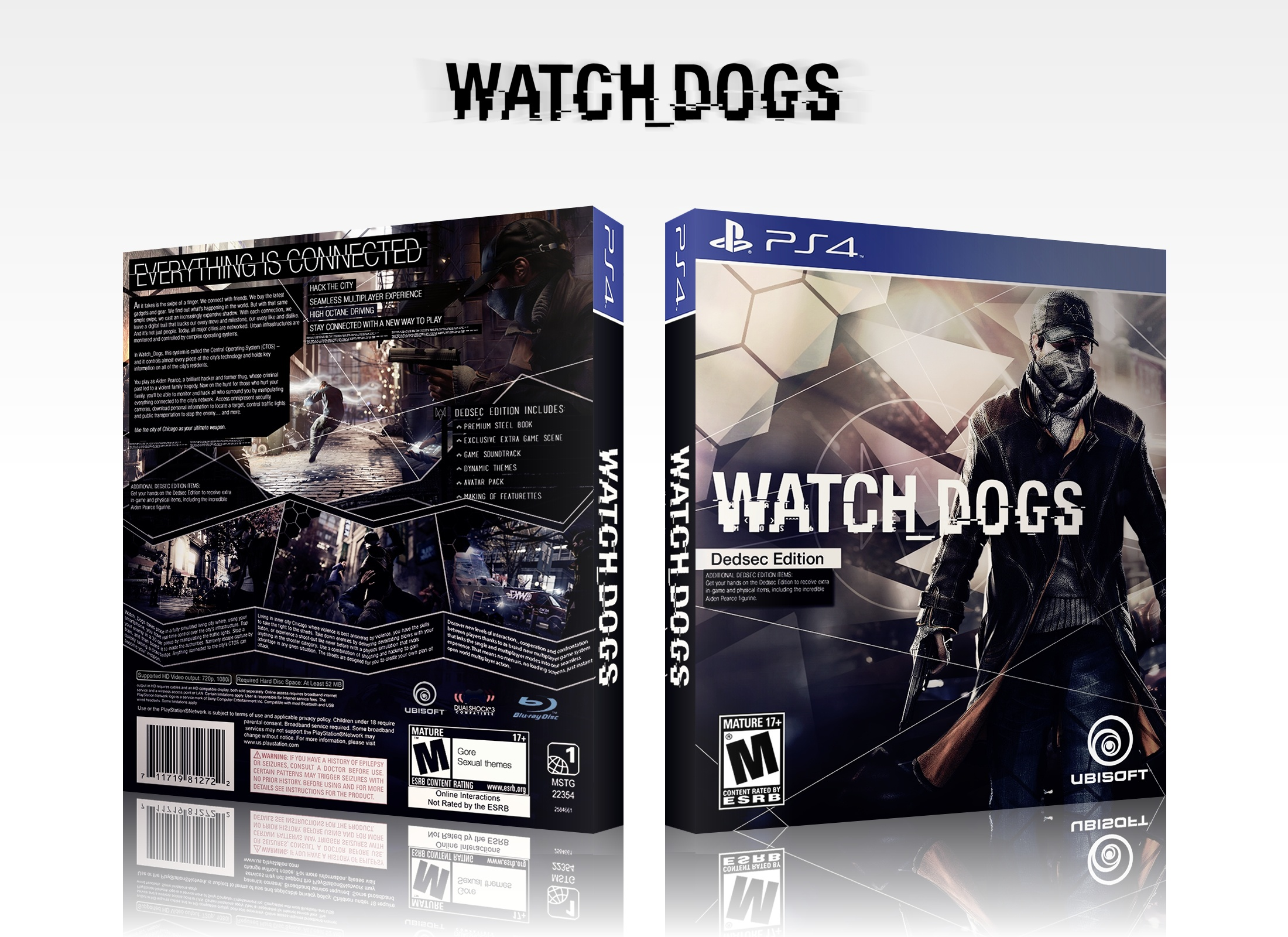 Viewing full size Watch Dogs box cover