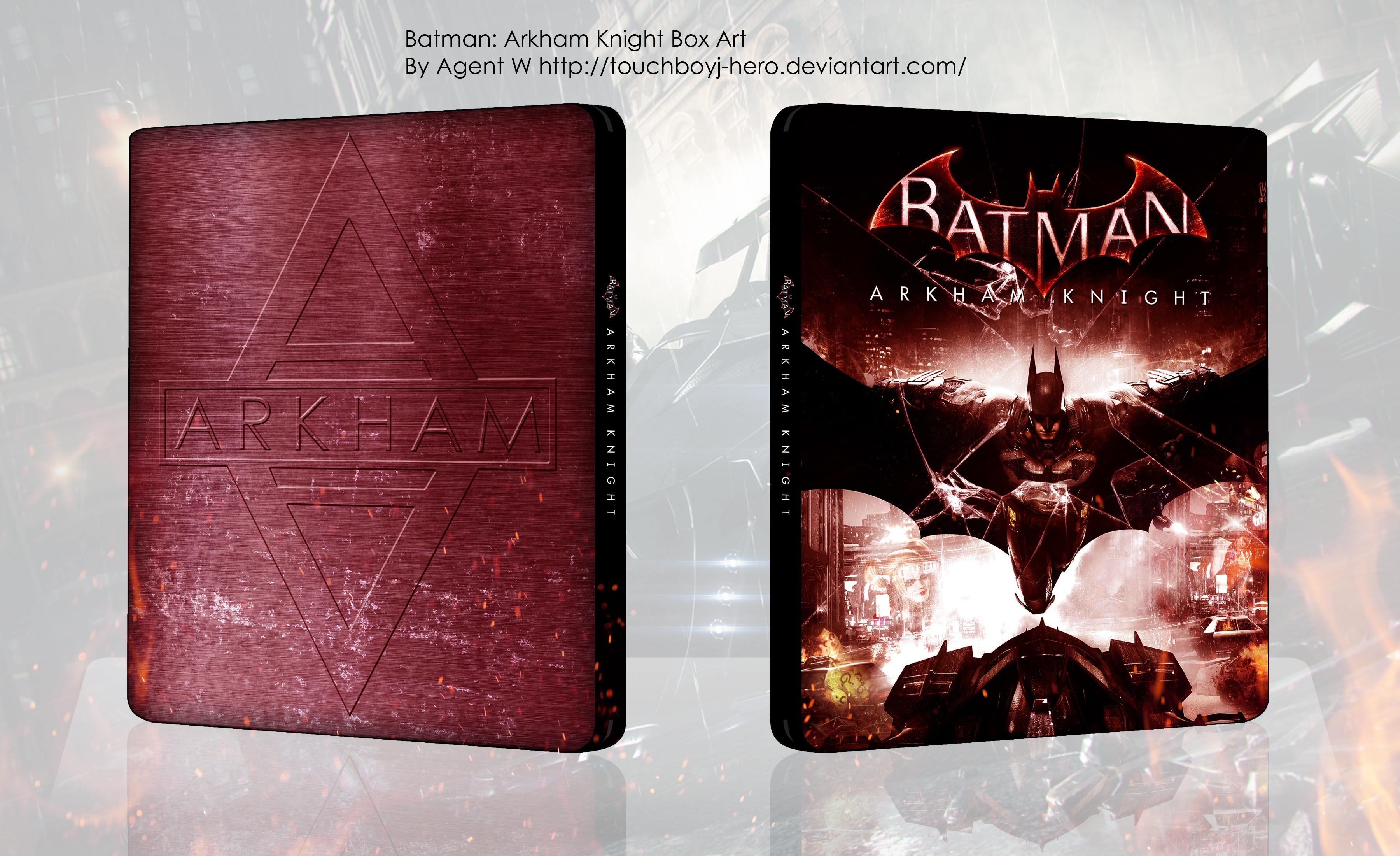 Viewing full size Batman: Arkham Knight box cover