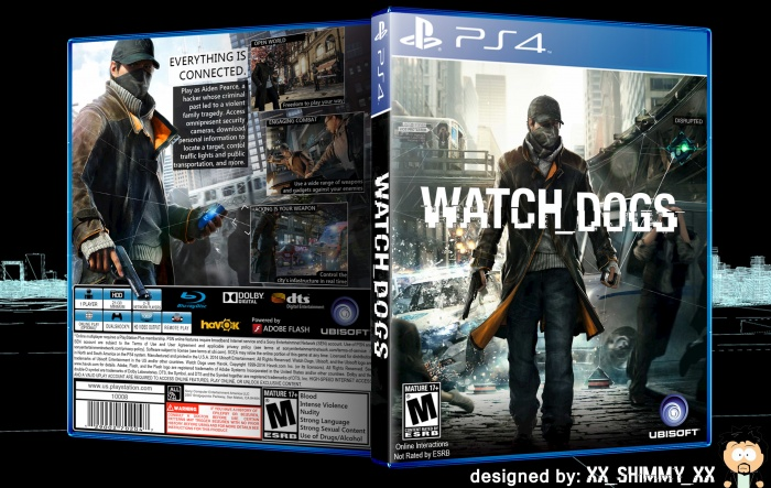 Watch Dogs PlayStation 4 Box Art Cover by xx_Shimmy_xx