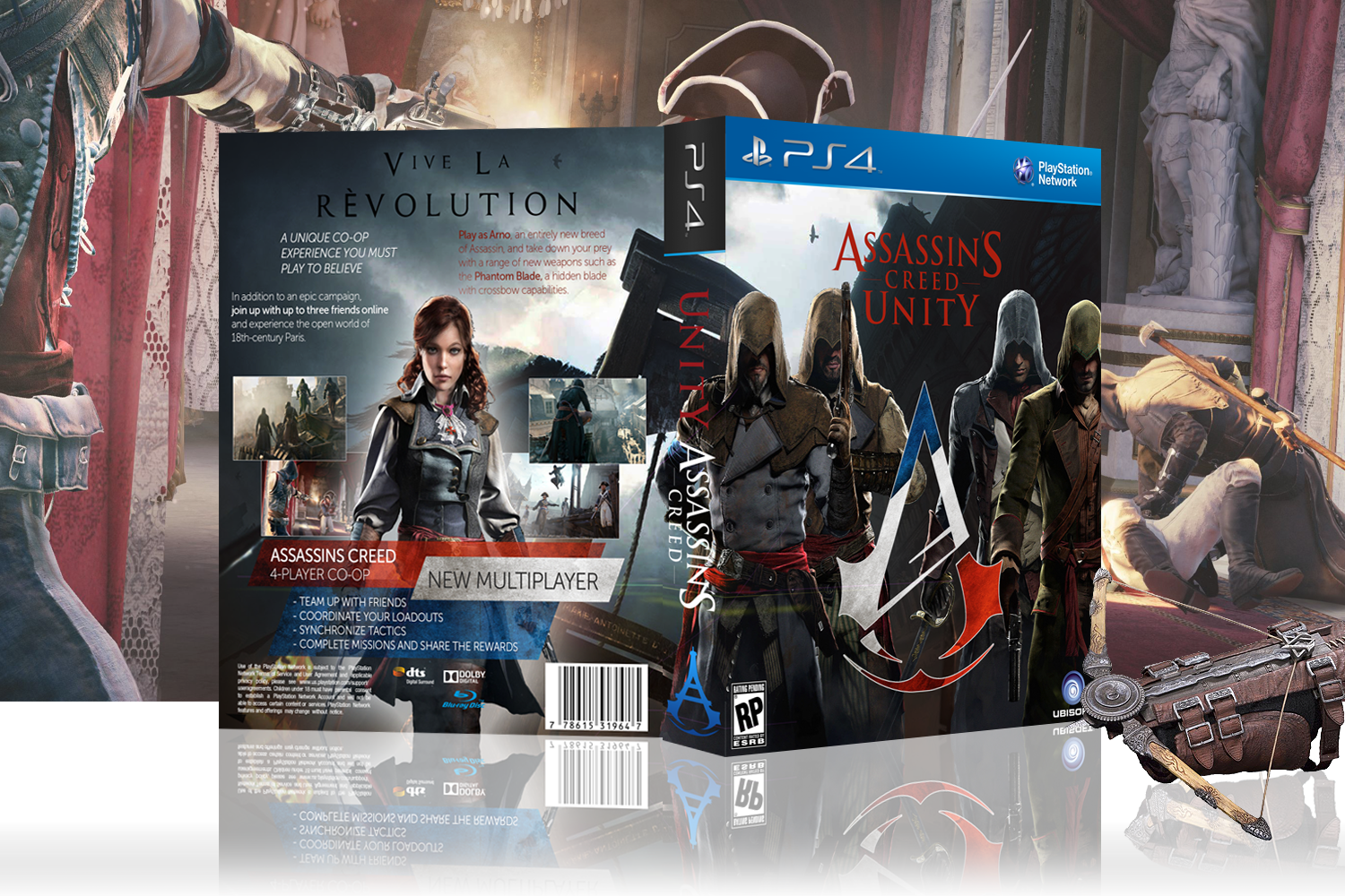 Assassin's Creed Unity PlayStation 4 Box Art Cover by