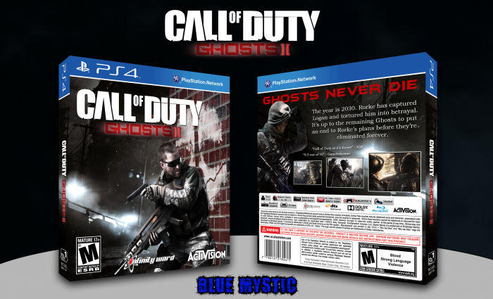 Call Of Duty Ghosts Ii Playstation 4 Box Art Cover By Blue Mystic
