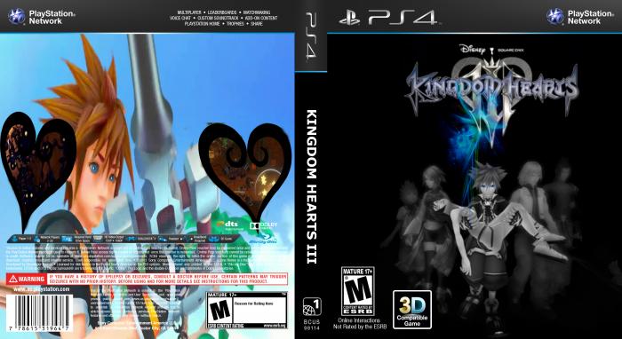 Kingdom Hearts 3 PlayStation 4 Box Art Cover by DarkKeyblader