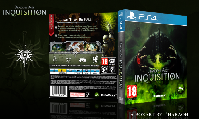 dragon age inquisition playstation 4 box art cover by pharaoh. Black Bedroom Furniture Sets. Home Design Ideas