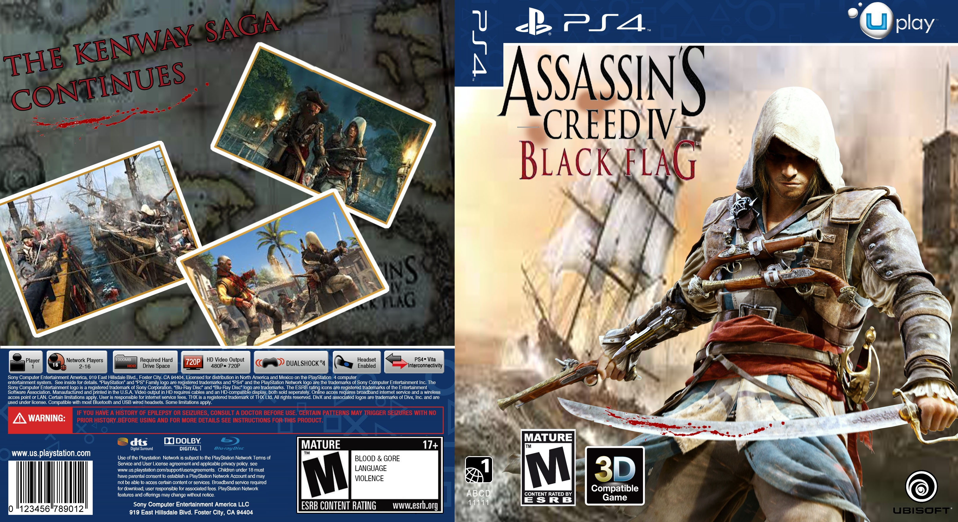 Assassins Creed Iv Black Flag Playstation 4 Box Art Cover By Dorbz