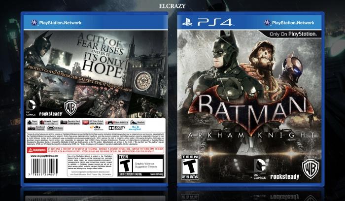 Batman Arkham Knight PlayStation 4 Box Art Cover by ELCrazy