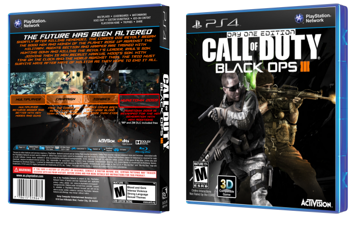 Call Of Duty Black Ops Iii Playstation 4 Box Art Cover By