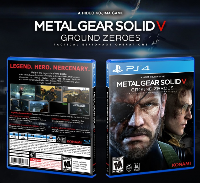 Metal Gear Solid V Ground Zeroes PlayStation 4 Box Art