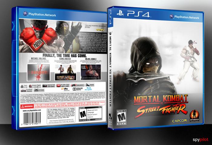 Mortal Kombat Vs Street Fighter Playstation 4 Box Art Cover By Spypilot