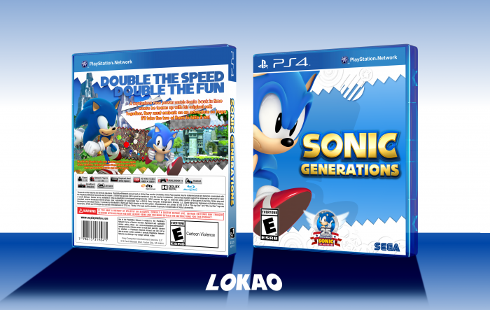 Sonic Generations PlayStation 4 Box Art Cover by Lokao0