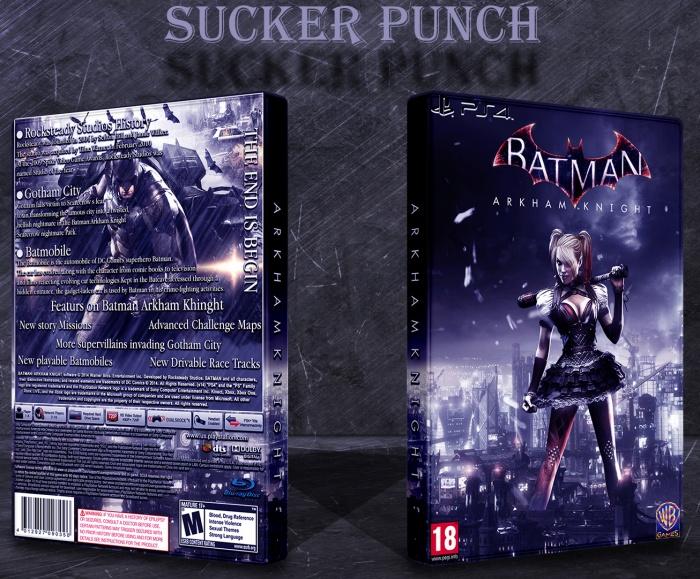 Batman Arkham Knight PlayStation 4 Box Art Cover by Sucker ...