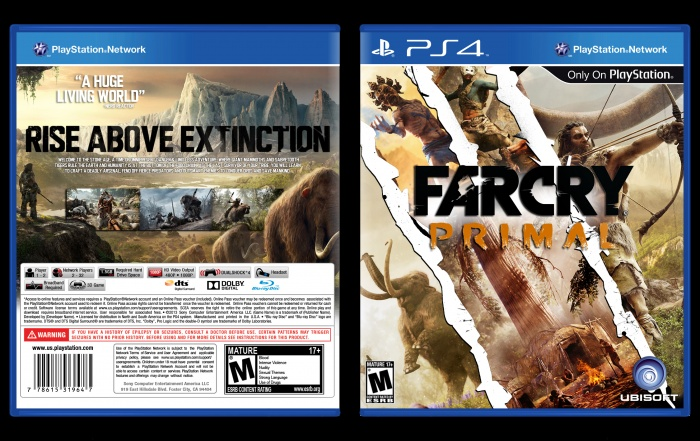 Far cry primal playstation 4 box art cover by ultraviolet32x