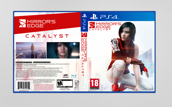 Mirror S Edge Catalyst Playstation 4 Box Art Cover By