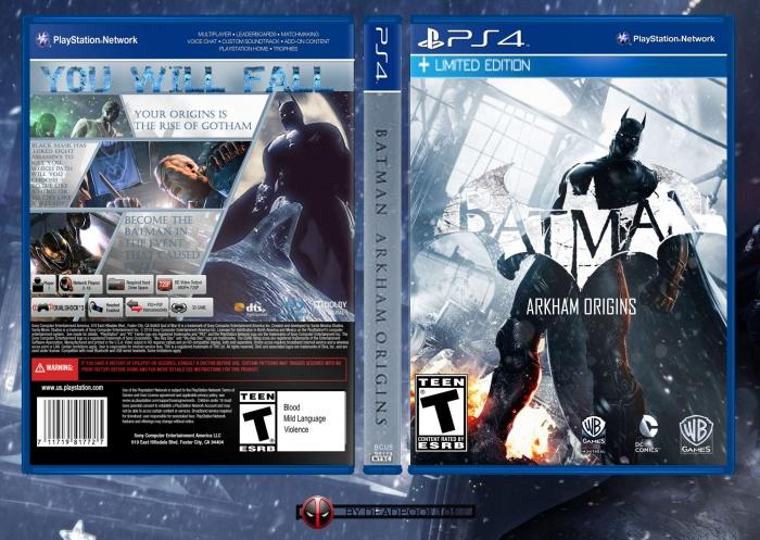 Batman Arkham Origins Playstation 4 Box Art Cover By