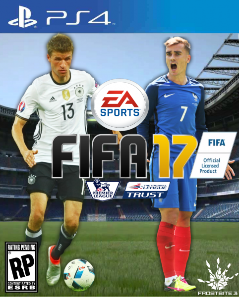 fifa 17 playstation 4 box art cover by alex gozdecki. Black Bedroom Furniture Sets. Home Design Ideas