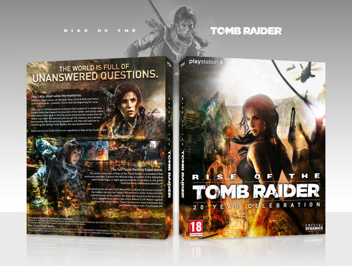 Rise Of The Tomb Raider 20 Year Celebration Playstation 4 Box Art