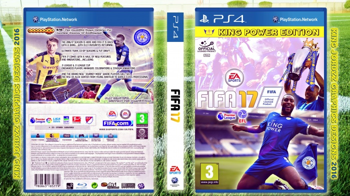 FIFA 17 PlayStation 4 Box Art Cover by kingjordzzgraphics85