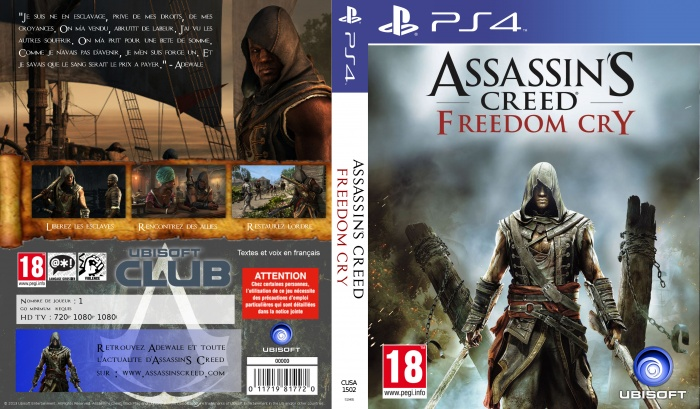 Assassin's Creed Freedom Cry PlayStation 4 Box Art Cover ...