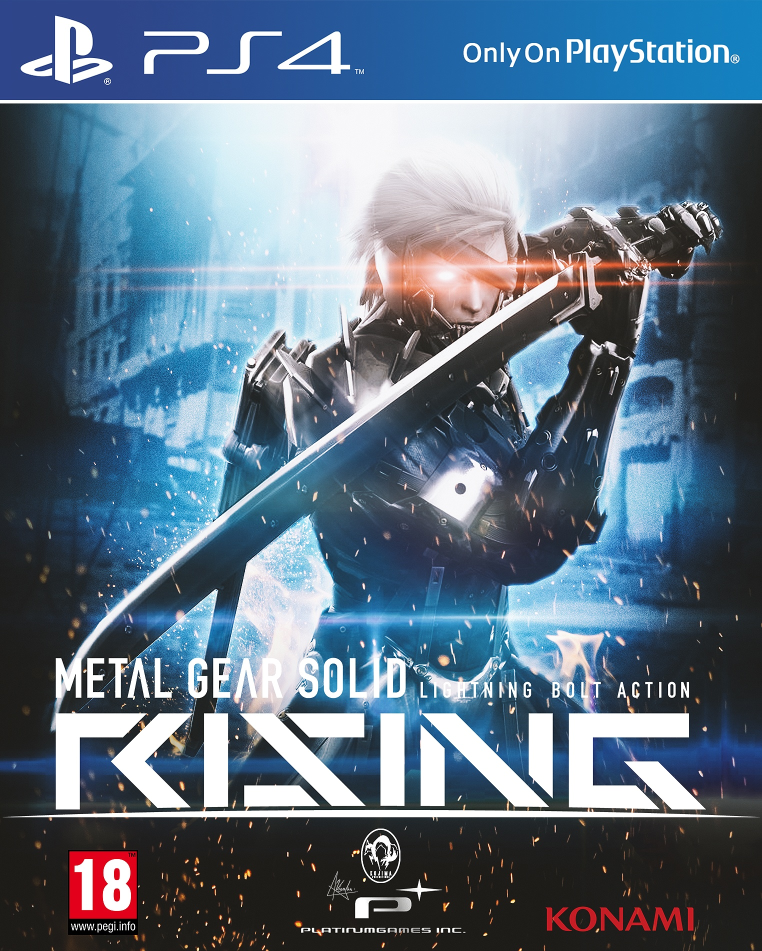 metal gear solid rising playstation 4 box art cover by visutox