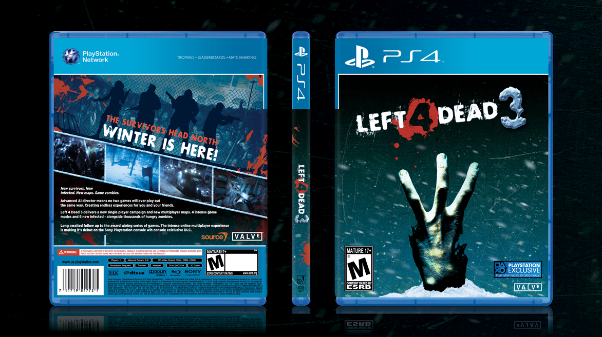 Left 4 Dead 3 Playstation 4 Box Art Cover By Apple Jail