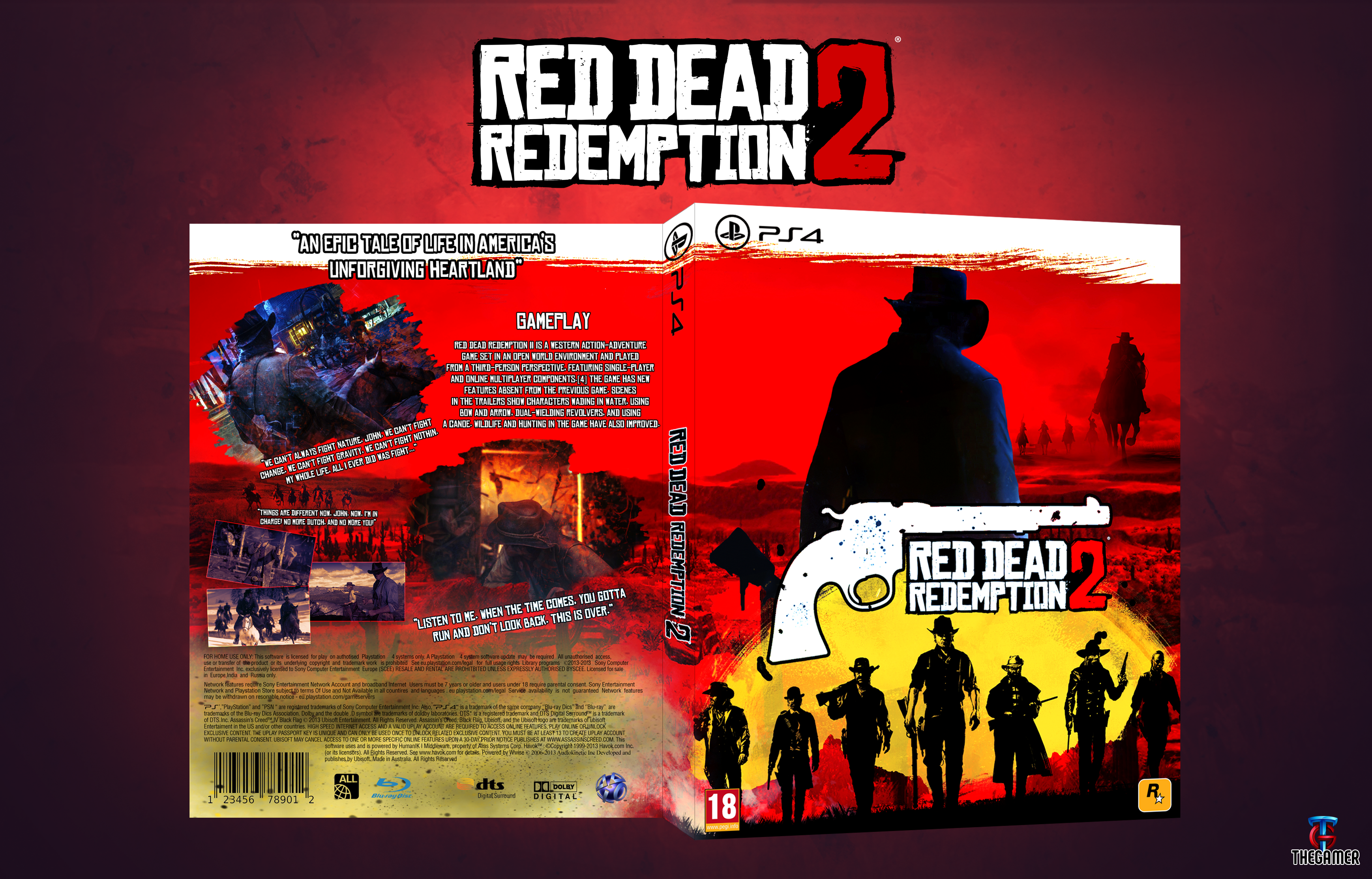 Red Dead Redemption 2 PlayStation 4 Box Art Cover by Thegamer