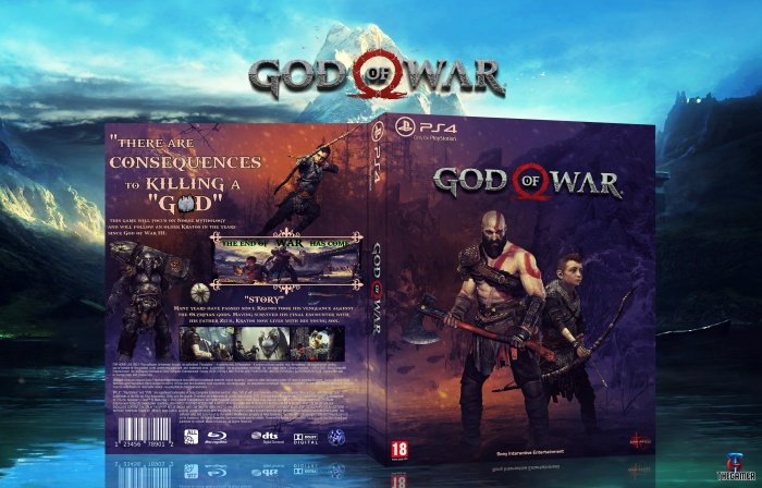 photo relating to Printable Video Game Covers titled God of War PlayStation 4 Box Artwork Deal with by means of Thegamer