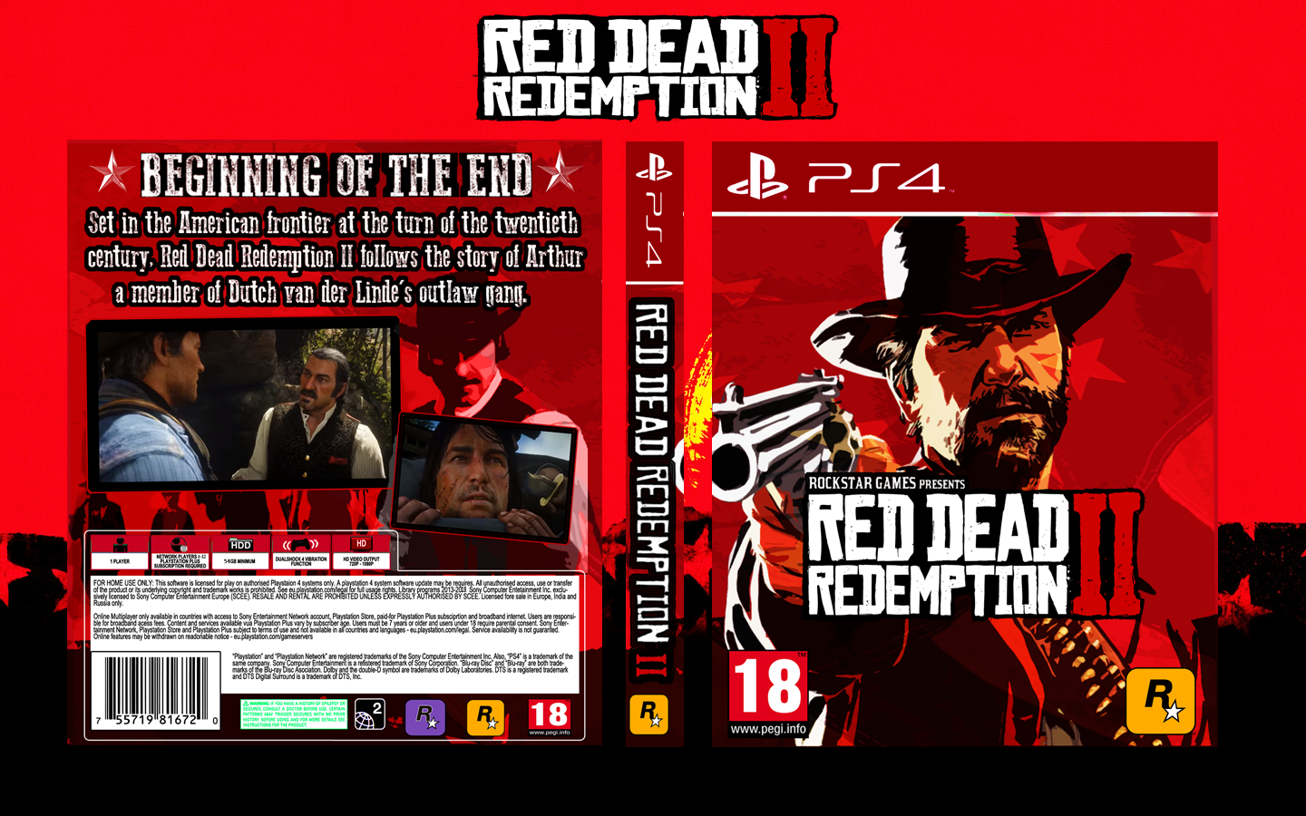 Red Dead Redemption 2 PlayStation 4 Box Art Cover by Maxhunter24