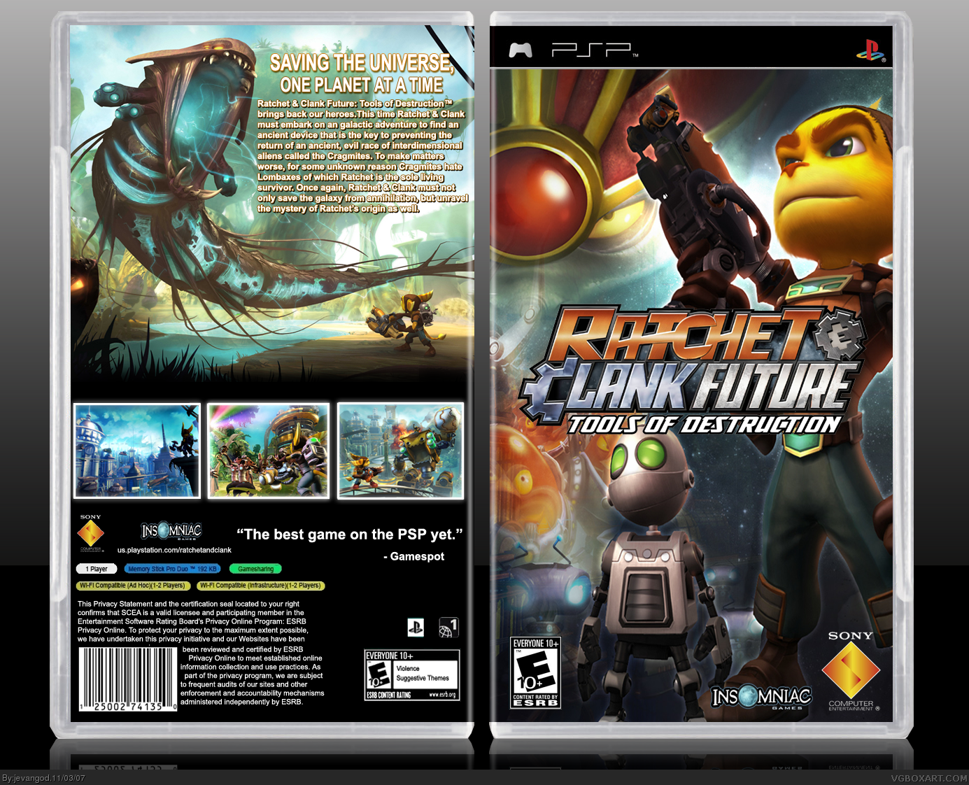Ratchet Clank Future Tools Of Destruction Psp Box Art Cover By