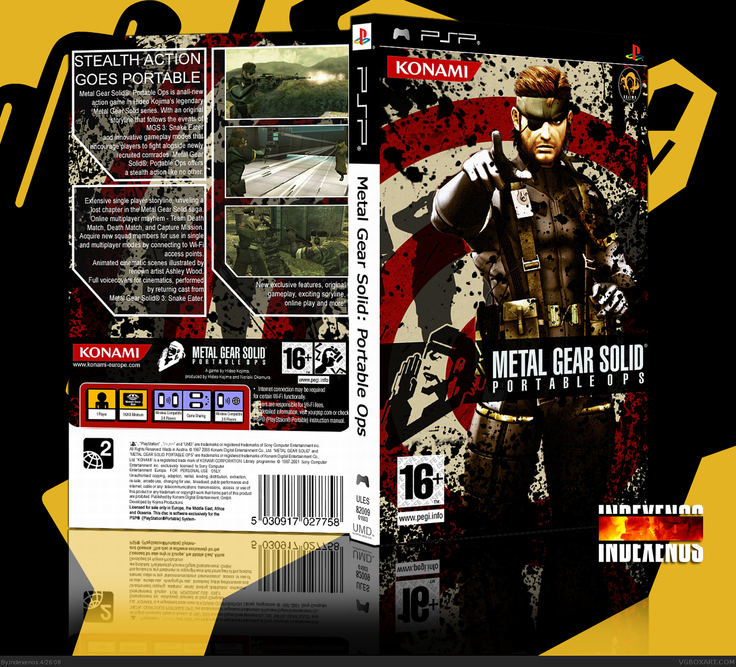 Metal Gear Solid: Portable Ops PSP Box Art Cover By Indexenos