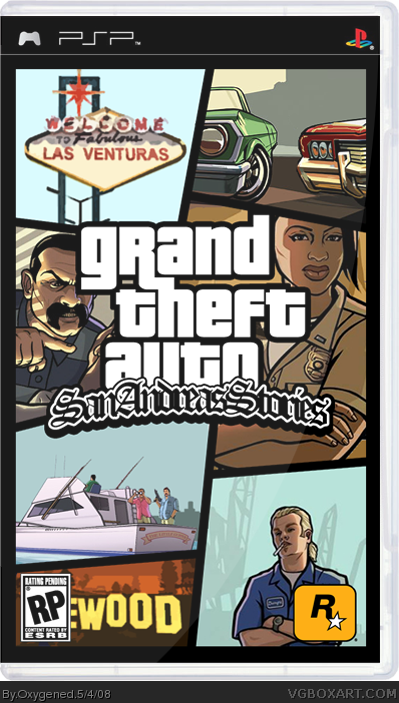 Grand Theft Auto: San Andreas Stories PSP Box Art Cover by