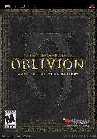 Elder Scrolls IV - Oblivion PSP Box Art Cover by mojo869