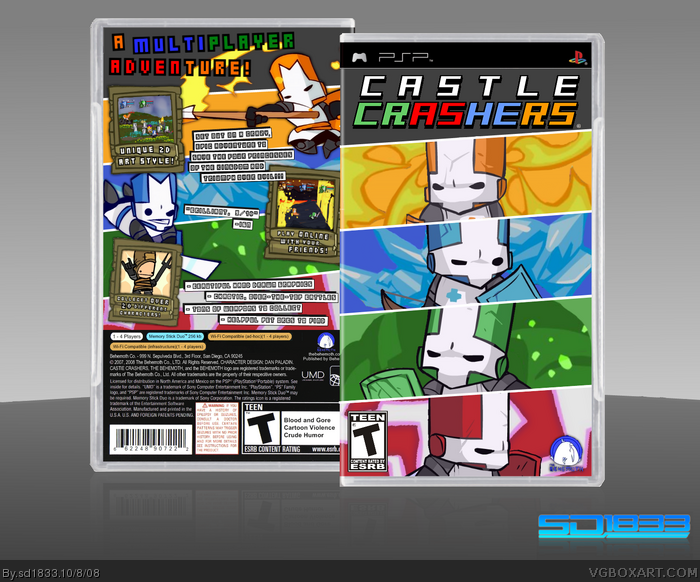 how to download music from computer to iphone castle crashers psp box cover by sd1833 20804