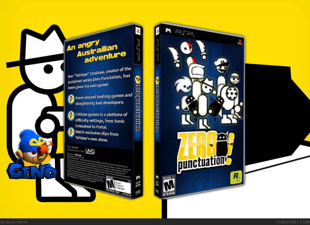 zero punctuation psp box art cover by geno