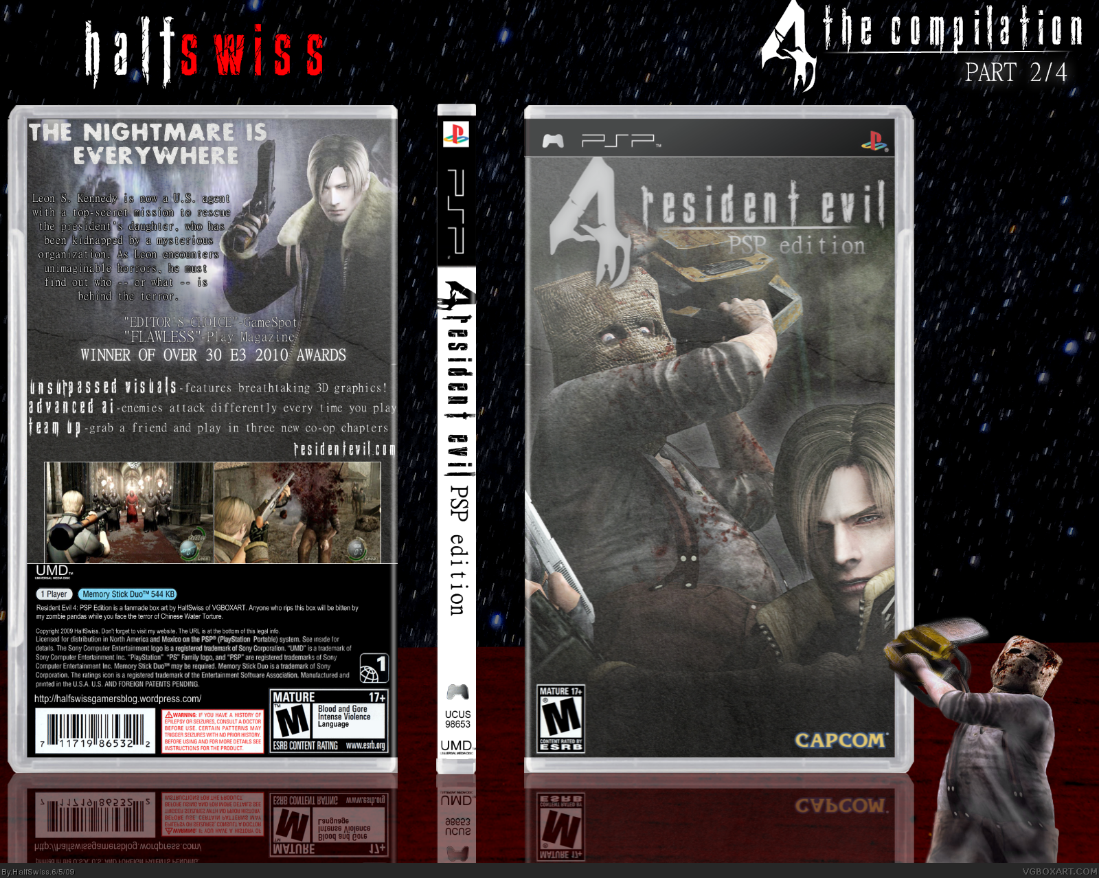Resident Evil 4: PSP Edition PSP Box Art Cover by HalfSwiss