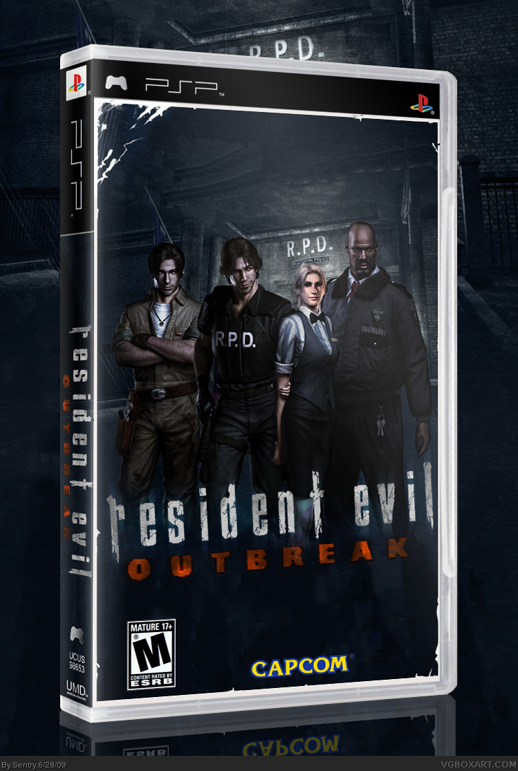 Resident Evil Outbreak Psp Box Art Cover By Sentry