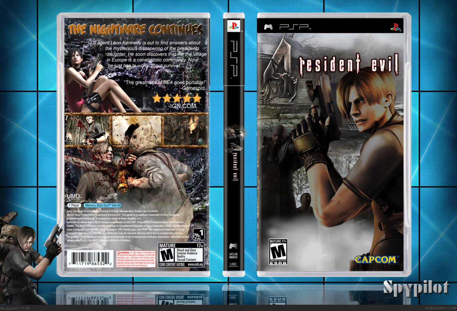 Resident Evil 4 PSP Box Art Cover by spypilot