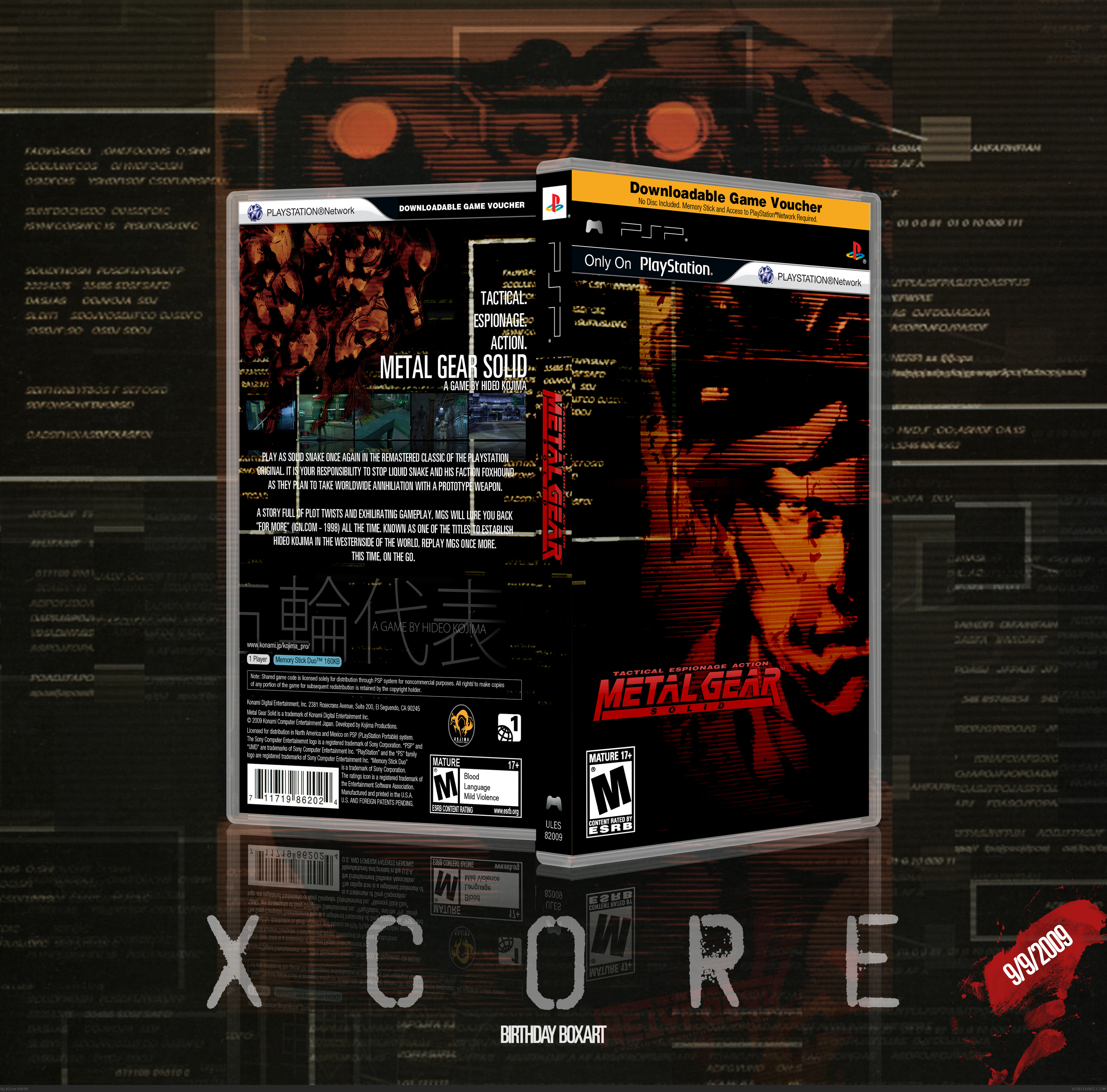 Metal Gear Solid PSP Box Art Cover By XCore