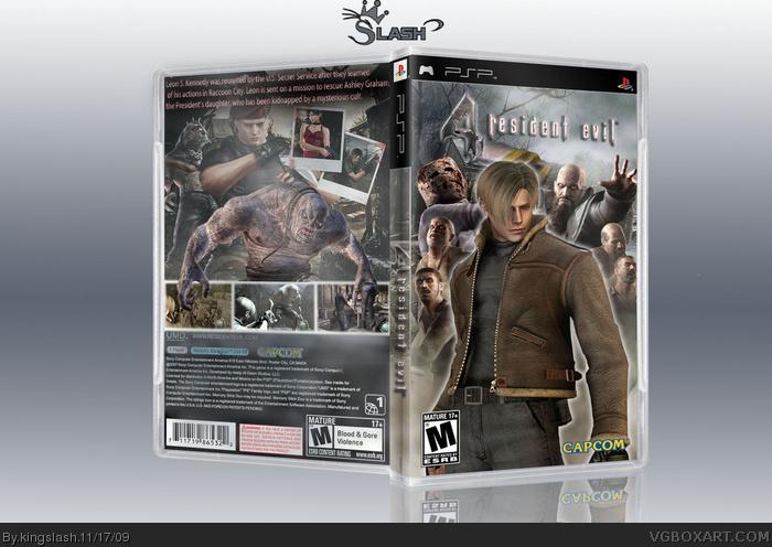 Resident Evil 4 Psp Edition Psp Box Art Cover By Kingslash