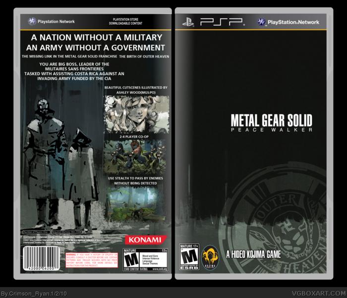Metal Gear Solid Peace Walker Psp Box Art Cover By Crimson Ryan