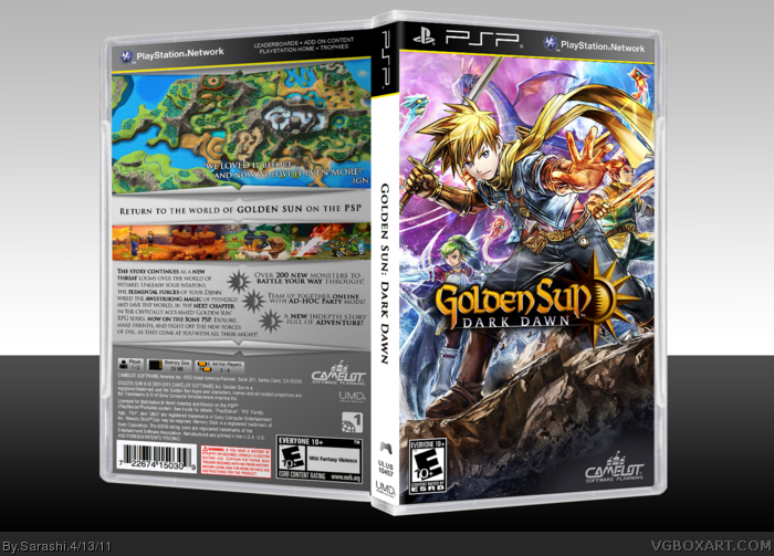 Golden Sun: Dark Dawn PSP Box Art Cover by Sarashi
