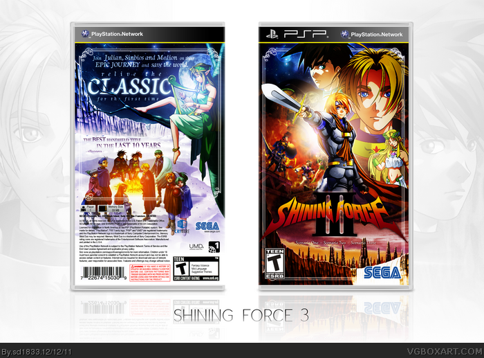 Shining Force III PSP Box Art Cover by sd1833