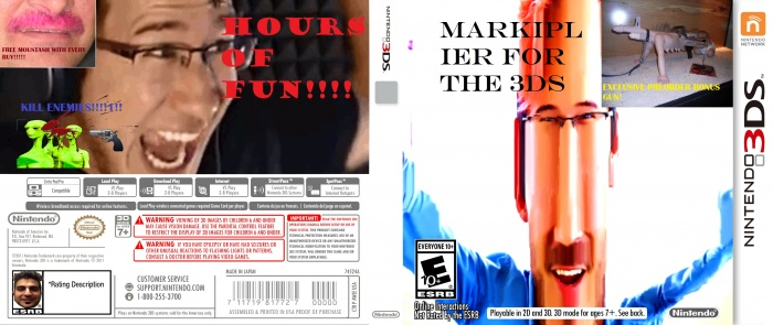 MARKIPLIER FOR THE 3DS PSP Box Art Cover by dogboy10000