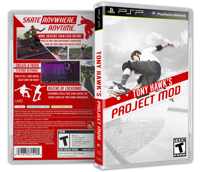 Tony Hawk's Project Mod box art cover