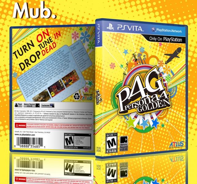 Persona 4 Golden PlayStation Vita Box Art Cover by Mub